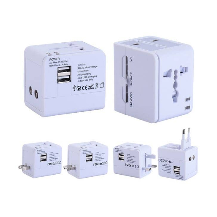 SD 71003 - Dual USB Universal Travel Adapter
